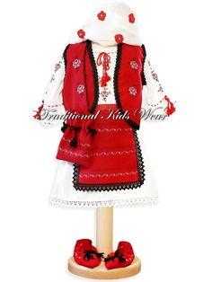 Romanian Traditional Baby Dress, Romanian Traditional Baptism Dress, Authentic Romanian Girl Costume, Romanian Traditional Christening Wear