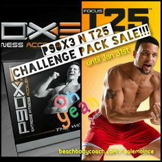 Last day to get the P90X3 & Focus T25 Challenge Packs on sale. Get it today and save $90 - beachbodycoach.com/SalemaInce