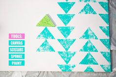 Weekly Tip: Recycled Canvas   Triangles