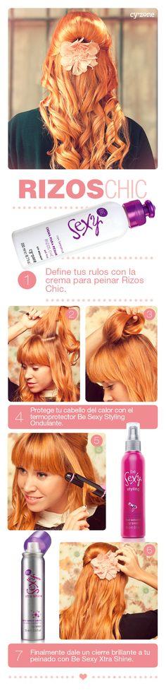 Con este DIY tu serás la mejor stylist de tu cabello ;) Usa las cremas Be Sexy para unos rizos super chic!!
