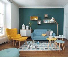 Arredamento soggiorno in base al segno zodiacale - Living azzurro e giallo