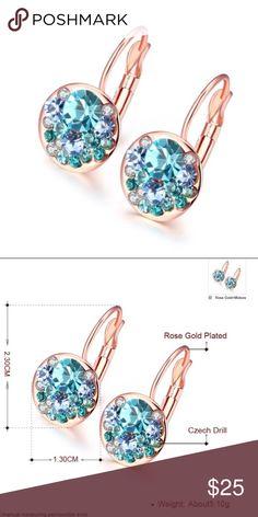 multiple blue crystal stone gold earrings Details to follow Jewelry Earrings