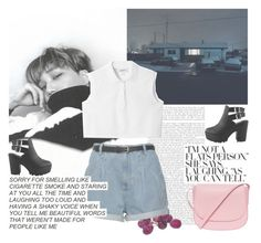 """""""Jongin."""" by rocio-kim ❤ liked on Polyvore featuring Monki and Mansur Gavriel"""