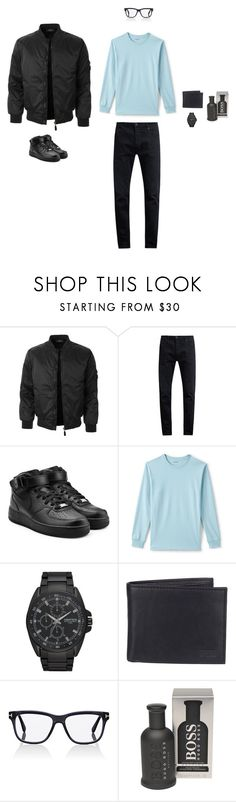 """Automatic"" by justyna-tita-witkowska ❤ liked on Polyvore featuring LE3NO, Neuw denim, NIKE, Lands' End, Armitron, Levi's, Tom Ford, BOSS Hugo Boss, men's fashion and menswear"