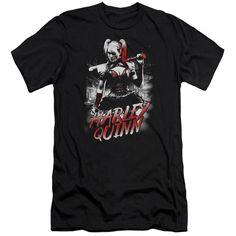 Batman Arkham Knight/Quinn City Short Sleeve Adult T-Shirt 30/1 in