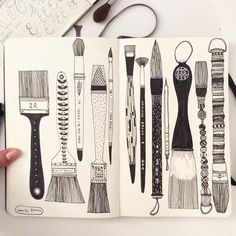 Day Brush still catching up! Day Brush still catching up! Arte Sketchbook, Sketchbook Pages, Sketchbook Assignments, Doodle Drawings, Doodle Art, Brush Drawing, Art Brush, Karten Diy, Sketchbook Inspiration