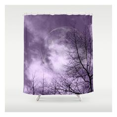 Purple Night  - Justart © Shower Curtain ($68) ❤ liked on Polyvore featuring home, bed & bath, bath, shower curtains, purple shower liner and purple shower curtains