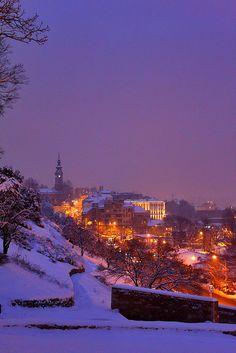 Belgrade winter dusk , Serbia