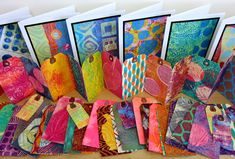 Gelli Arts video using the smaller plates to create tags and cards!