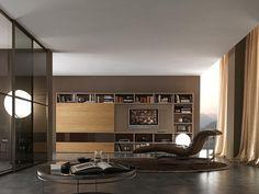 Pari & Dispari Sliding door arrangements by Presotto | Wall storage systems