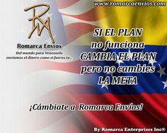 ¡Cámbiate a #RomarcaEnvios! #EnvioDeDinero #VenezolanosEnElMundo