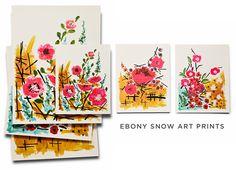 Art Prints - The Ebony Snow Prints - Snow & Graham: Letterpress Stationery, Invitations, Greeting Cards and Calendars