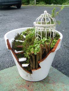 Fairy-pot Fairy Pots, Terrarium, Fairies, Plants, Home Decor, Terrariums, Faeries, Decoration Home, Fairy Jars