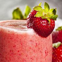 Cuban strawberry banana milkshake