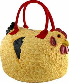 "Rubber Chicken Hen Tote Bag Handbag Purse Pocketbook ""Henbag"" by NYC, http://www.amazon.com/gp/product/B001G8N95I/ref=cm_sw_r_pi_alp_bYqlqb07Z1JX8"