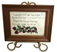 Vintage Crochet Quote picture Vintage wall by GenesisVintageShop