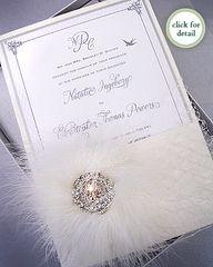 Glamorous...wedding invite in a box