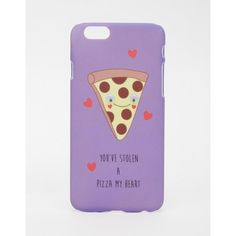 ASOS iPhone 6 and 6s Case You Stole A Pizza My Heart ($7.37) ❤ liked on Polyvore featuring accessories, tech accessories, phone cases, phones, cases, multi and asos