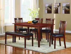 Schaffer Collection Regular Size 6 Pc Dining Table Set