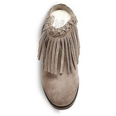 Women's Soho Cobbler Chrysnth Braided Fringe Leather Mules - Taupe (Brown) 9.5