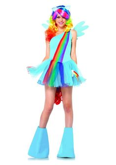 It's Magic! 16 Unicorn Costumes You Can Easily Order Online My Little Pony Friendship Is Magic 6-Piece Rainbow Dash ($56-$63)