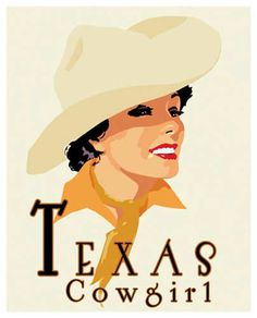 Texas Cowgirl - Art Print by Richard Weiss