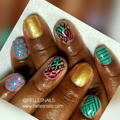 """301 Likes, 3 Comments - Get Some Nelle-zazz in Yo Life (@nellesnails) on Instagram: """"Lil Digits Poppin! Lol #gelmanicure #gelmani #nails #nailartclub #nailart #nailsnailsnails…"""""""
