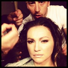 Shooting  Preparing hair w/ #milesantini #ninabadric