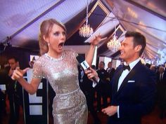 Taylor Swift 2014 Grammys - Taylor doing the face that Jennifer Lawrence did in a photobomb a few days ago