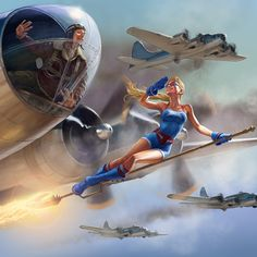 Bombshell Stargirl - One of the most BAD ASS pieces of comic art I have seen in a long time! Love!!! <3