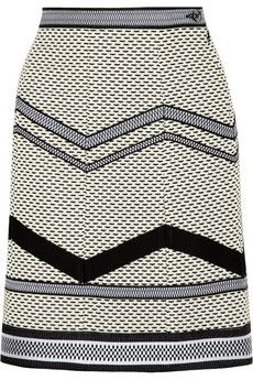 Missoni Basketweave cotton-blend A-line skirt | THE OUTNET