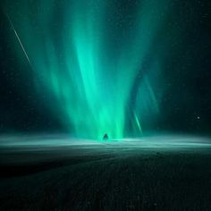 "Previous pinner: Aurora borealis. Me: This appears to be an aurora ""touching down"" on the earth. Does this ever really happen? Just asking. Never seen any other image like this."