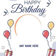 Animated Happy Birthday Wishes, Happy Birthday Wishes For Her, Birthday Card With Photo, Birthday Wishes For Kids, Birthday Photo Frame, Happy Birthday Flower, Happy Birthday Girls, Happy Birthday Pictures, Birthday Wishes Cards