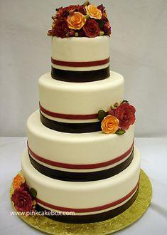 Red Velvet Wedding Cake by Pink Cake Box in Denville, NJ.  More photos at http://blog.pinkcakebox.com/red-velvet-wedding-cake-2007-10-28.htm  #cakes