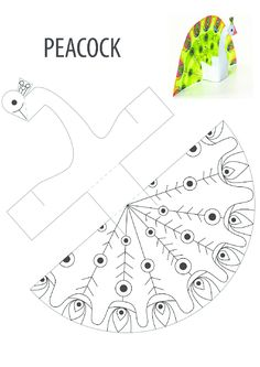 Worksheet for peacock pattern activities, forms activities - Diy & Crafts World Animal Crafts For Kids, Summer Crafts, Preschool Crafts, Diy Crafts For Kids, Paper Toys, Paper Crafts, Peacock Crafts, Peacock Bird, Printable Crafts