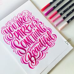Big, Bold and Colorful Lettering with Tombow guest designer Maia!