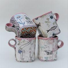 Slab-built #mugs Ceramic Mugs, Ceramic Pottery, Pottery Marks, Ceramics, Jewellery, Studio, Tableware, Ceramica, Pottery Mugs