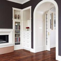 -- !Inset drawers and bookcase! -- Living Room Design Ideas, Pictures, Remodels and Decor