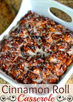 Cinnamon Roll Casserole - man, oh man - this is GOOD! And so easy too!! MUST PIN!