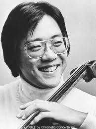 Yo Yo Ma child prodigy began playing cello at age 4. At six he preformed for President Eisenhower and at age 7  with Leonard Bernstein conducting he played a benefit concert attended by President Kennedy and wife Jacqueline.  His first solo Carnegie Hall concert was at the ripe old age of 15! He graduated both Julliard and Harvard University.