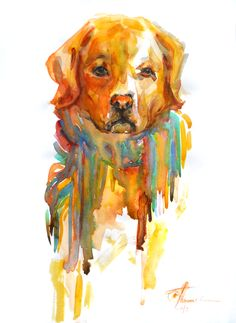 my watercolors- my doggie 2