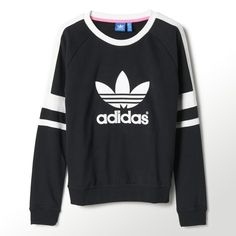 Adidas jumper; would go nicely with some black or denim skinny jeans or Adidas sweatpants, along with a pair of Vans or a pair of trainers (any colour except navy/navy blue)