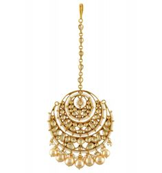 Amrapali Maang Tikka in Jadau & pearls Tikka Jewelry, Head Jewelry, India Jewelry, Ethnic Jewelry, Wedding Jewelry, Antique Jewelry, Jewelery, Buy Gold Jewellery Online, Traditional Indian Jewellery