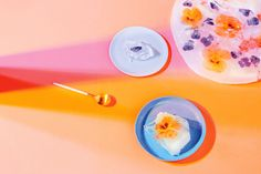Prosecco jelly with edible flowers in summer issue of USTA magazine