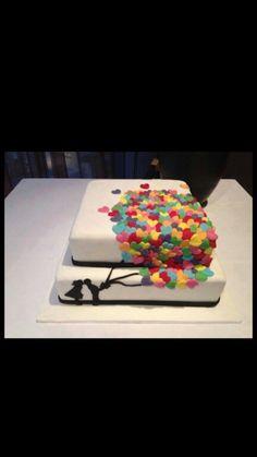 Gorgeous engagement cake!
