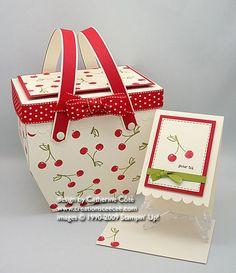 cherry picnic basket