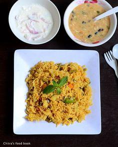 Easy vegetable biryani using pressure cooker for bachelors & working women