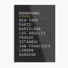"""Airport Departures Board Print"" Canvas Print by nth4ka 