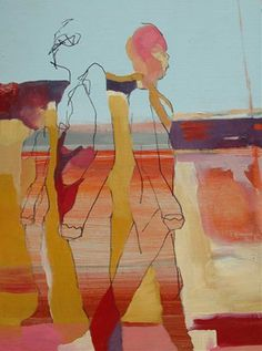 Three Figures in a Moving Landscape - Zoe Pawlak