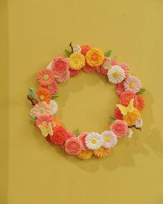 Clay Flower Wreath
